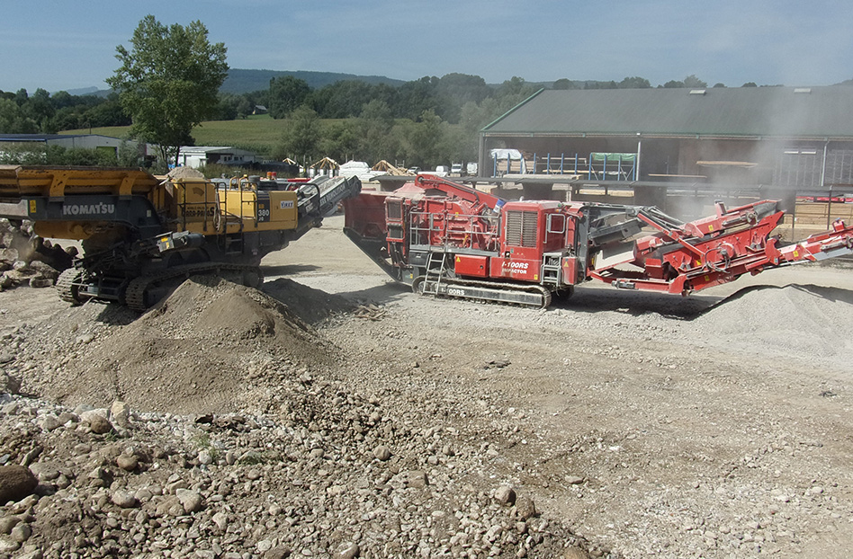 SARL VIRET Récupération de matériaux inertes en concassage et criblage à Albens, Savoie (73)