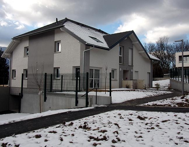 Création de plateformes de maisons à proximité de Chambéry, en Savoie (73)
